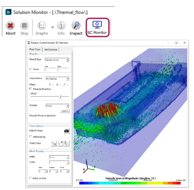 Simcenter 3D Thermal Multiphysics Live Monitoring