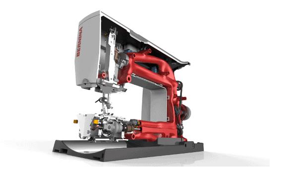 Nähmaschine gezeichnet mit Solid Edge